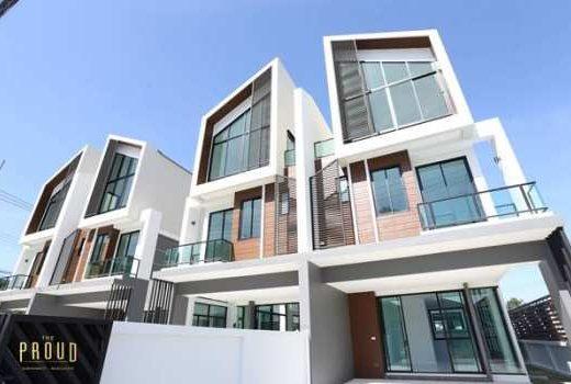 ขายบ้าน 3 ชั้น The Proud Bangsaen ดีไซน์สุดโมเดิร์น ทำเลใจกลางเมือง ใกล้บางแสน